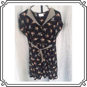 CUTE Vintage 1980s Floral Pattern Dress!!!